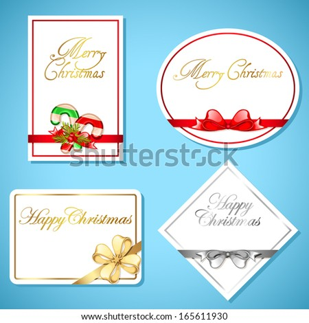 Christmas gift card set