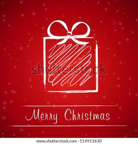 christmas gift frame. christmas gift frame concept - stock vector