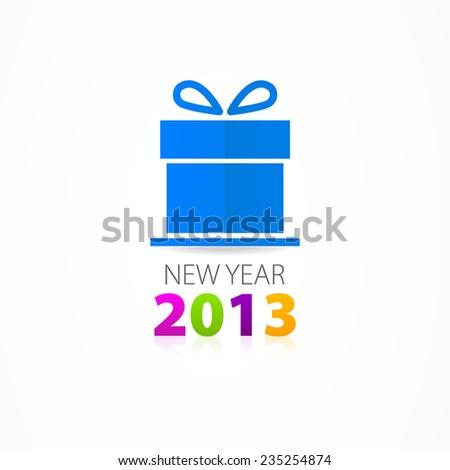 Christmas gift icon - stock vector