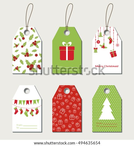 Christmas gift tag stock images royalty free images vectors christmas gift tags vector gift labels negle Images