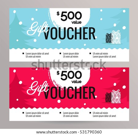 Christmas Gift Voucher Photos RoyaltyFree Images Vectors – Santa Gift Certificate Template