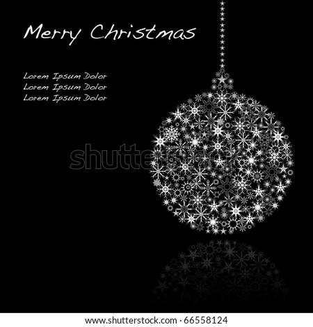 Christmas globe isolated on black VECTOR - stock vector