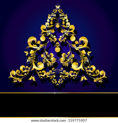 Christmas golden abstract design with copy space