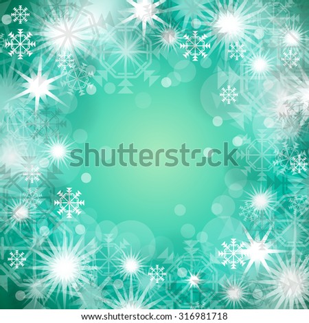Christmas green Background - Vector Illustration, Graphic Design Useful For Your Design   - stock vector