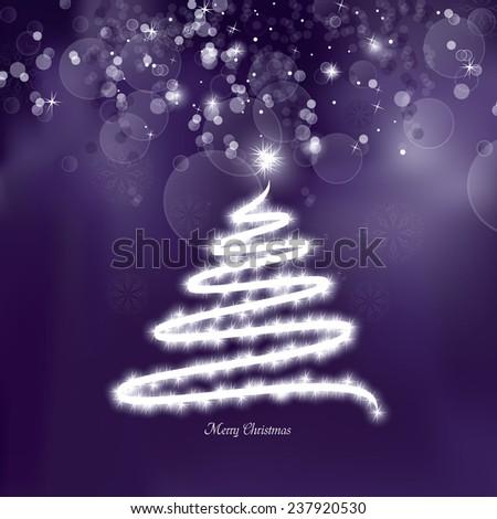 Christmas Greeting Card. - stock vector