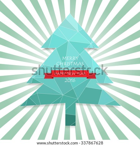 Christmas greeting card, and Happy new year message, Vector illustration Eps 10 - stock vector
