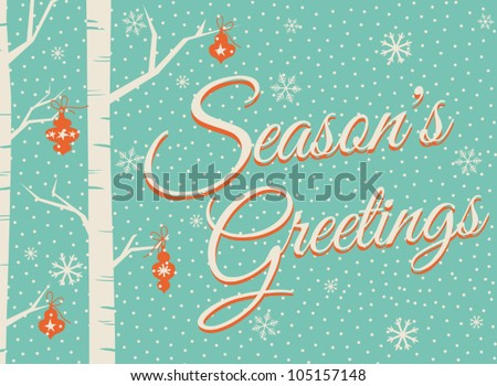 Christmas greeting card design. - stock vector
