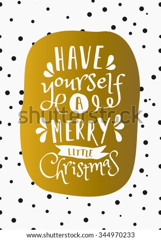 Christmas greeting card design have yourself stock vector christmas greeting card design have yourself a merry little christmas on a background with solutioingenieria Gallery