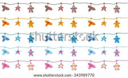 Christmas Greeting Card Design. Space for text - stock vector