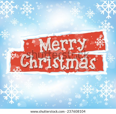 Christmas greeting card design. Vector background - stock vector