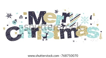 Christmas greeting card flat design vector stock vector 768750070 christmas greeting card flat design vector illustration template for greeting cards website and mobile m4hsunfo Image collections