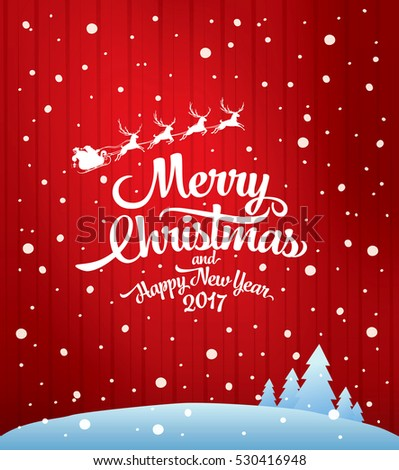 Christmas greeting card. Merry Christmas and happy new year