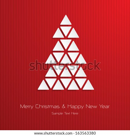 Christmas Greeting Card. Merry Christmas and Happy New Year lettering, vector illustration - stock vector
