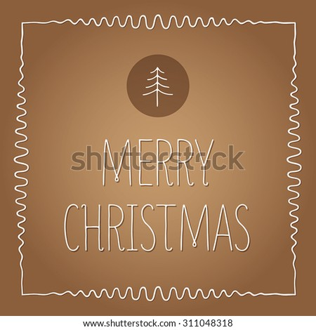 Christmas Greeting Card. Merry Christmas lettering, vector illustration. Christmas Typographic Background. - stock vector