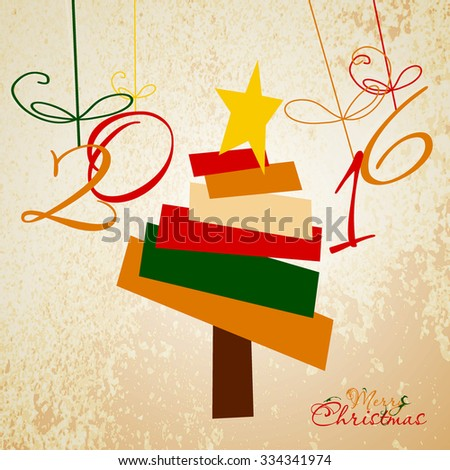 Christmas Greeting Card. Merry Christmas. Vector illustration - stock vector