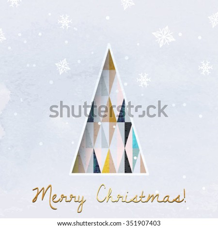 Christmas greeting card modern christmas tree stock photo photo christmas greeting card modern christmas tree vector background geometric christmas tree scandinavian design m4hsunfo
