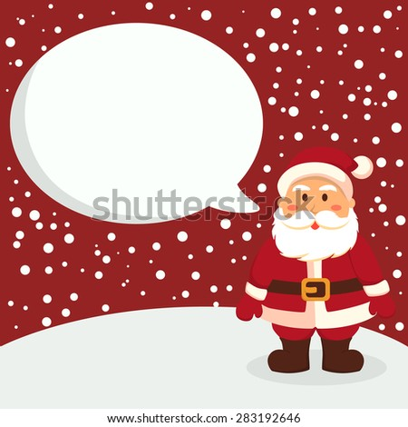 Christmas greeting card notes santa red stock vector 283192646 christmas greeting card notes with santa in red winter background m4hsunfo