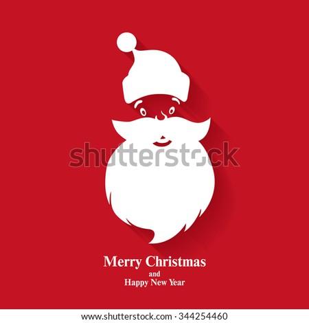 Christmas greeting card. Santa Claus. Vector illustration - stock vector