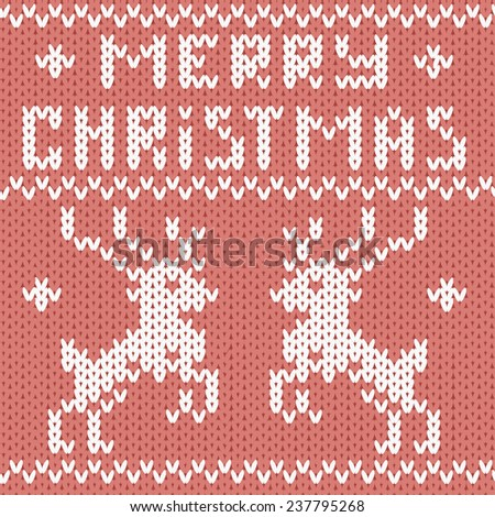 Christmas greeting card. Seamless pattern. Vector illustration - stock vector