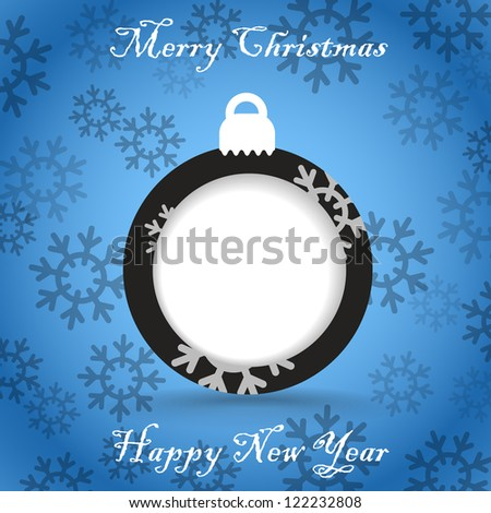 Christmas greeting card template. Ready for a text - stock vector