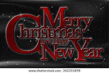 Christmas greeting card, vector - stock vector