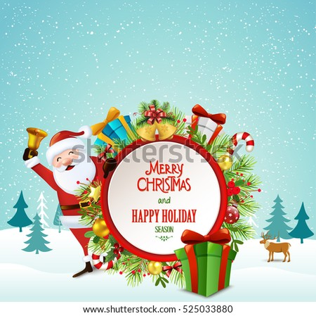 Christmas greeting card,vector