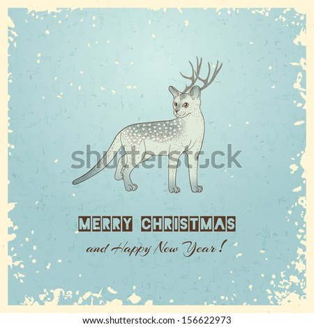 Christmas greeting card. Vector illustration, eps 10.