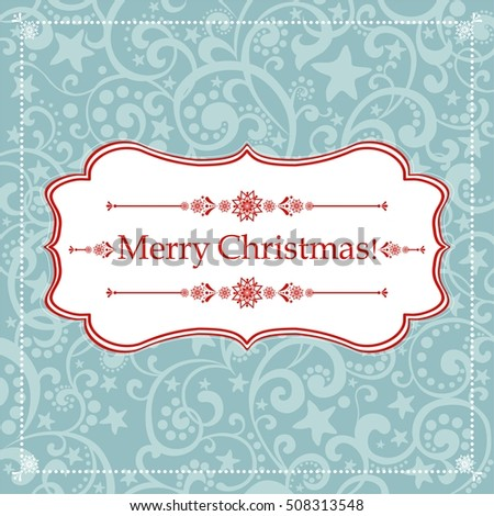 Christmas Greeting Card. Vintage background. Vector illustration