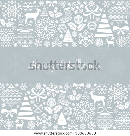 Christmas Greeting Card. Vintage Christmas elements. - stock vector