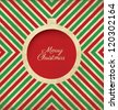 Christmas Greeting Card - Vintage Style - stock photo