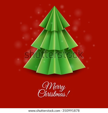 Christmas Greeting Card With Gradient Mesh, Vector Illustration