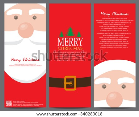 christmas greeting or invitation card. can be use for business shopping card, customer sale and promotion, gift voucher certificate coupon, layout, banner, web design. vector illustration - stock vector