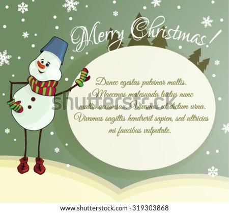 Christmas greetings - stock vector