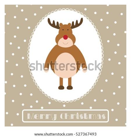 Christmas greetings card funny holiday illustration stock vector christmas greetings card funny holiday illustration reindeer postcard with merry christmas typography m4hsunfo