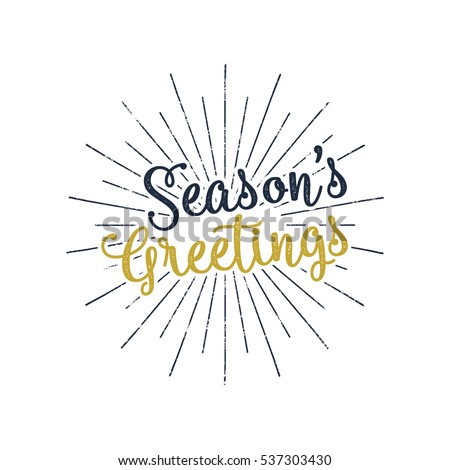 Christmas greetings lettering holiday wish saying stock vector hd christmas greetings lettering holiday wish saying and vintage label seasons greetings calligraphy m4hsunfo