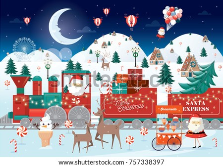 christmas greetings vector/illustration
