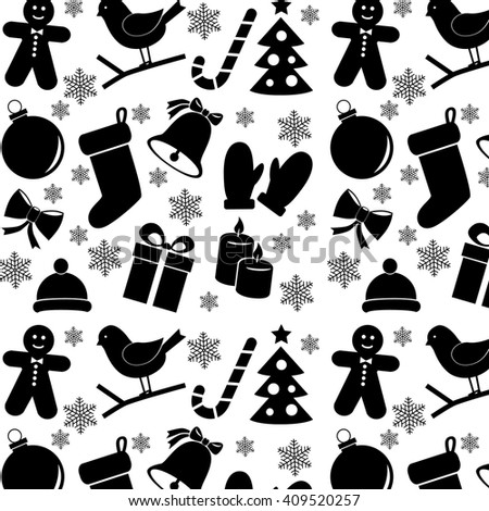 Christmas holiday background pattern. Vector art.