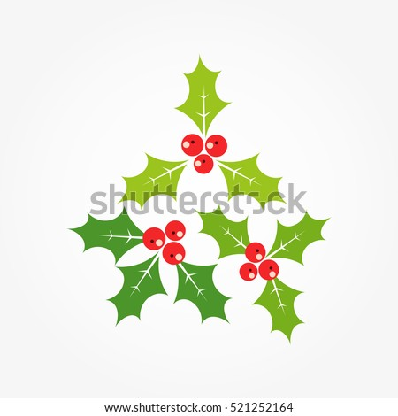 Christmas holly berries symbol illustration
