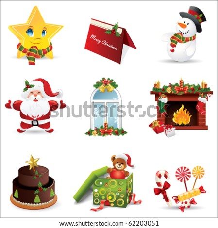 Christmas icon - stock vector