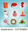 christmas icon/label set - stock vector
