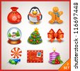 Christmas icon set-2 - stock vector