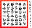 christmas icon set - stock vector
