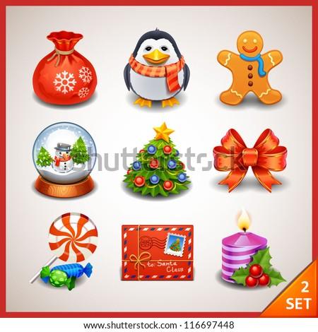 Christmas icon set-2 - stock vector