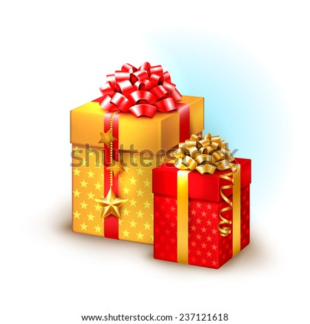 Christmas icon with gift boxes - stock vector