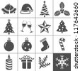 Christmas Icons. Each icon is a single object (compound path). Simplus series - stock vector