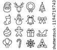 christmas icons set. vector...