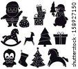 Christmas icons. Vector set, EPS 8. - stock