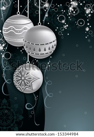Christmas Illustration. Vector Background. - stock vector