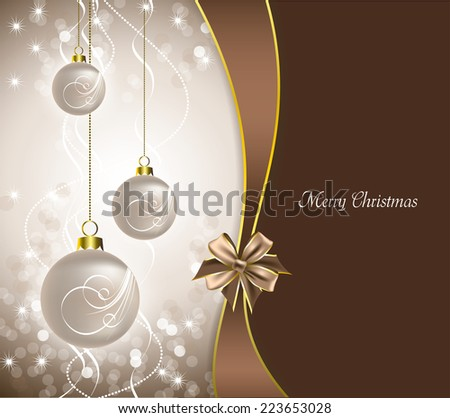 Christmas Illustration. Vector Background. Eps10.