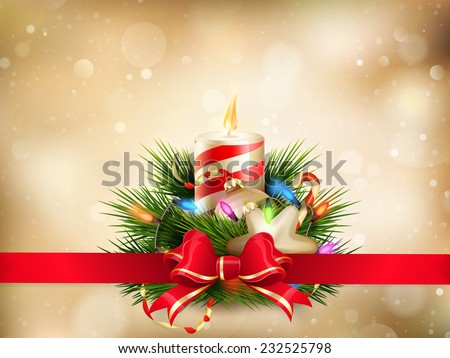 Christmas illustration with candles. EPS 10 vector file included - stock vector